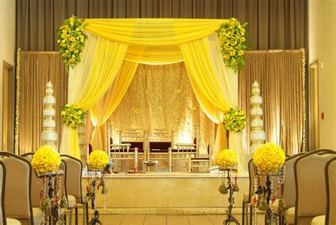 yellow fabric style Mandap   Mandaps   Pinterest   Yellow