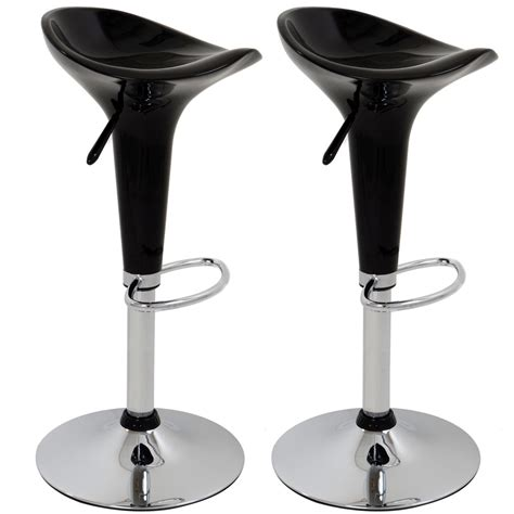 adjustable kitchen breakfast chrome barstools bar stool 2 x designer abs chrome adjustable gas lift swivel kitchen