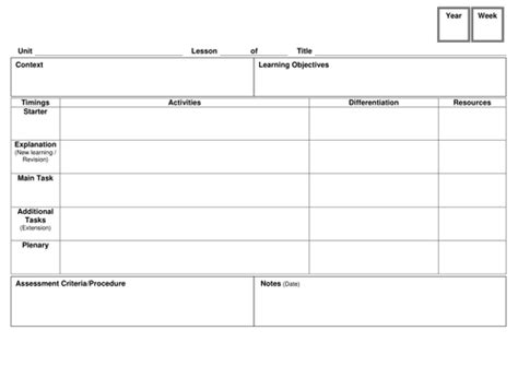 lesson plan template tes lesson plan template by jameswrob teaching resources tes