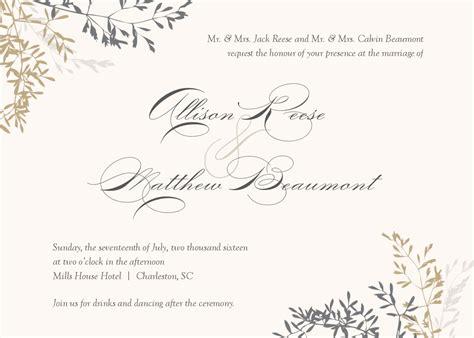 wedding invitation wedding invitations template superb