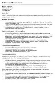 Help Desk Support Specialist Sle Resume by Resume For Technical Support Sales Technical Lewesmr