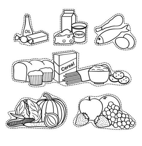 dibujo alimentos dibujos de alimentos para recortar y colorear