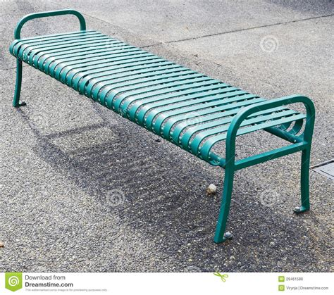 green metal bench empty green metal bench royalty free stock photos image