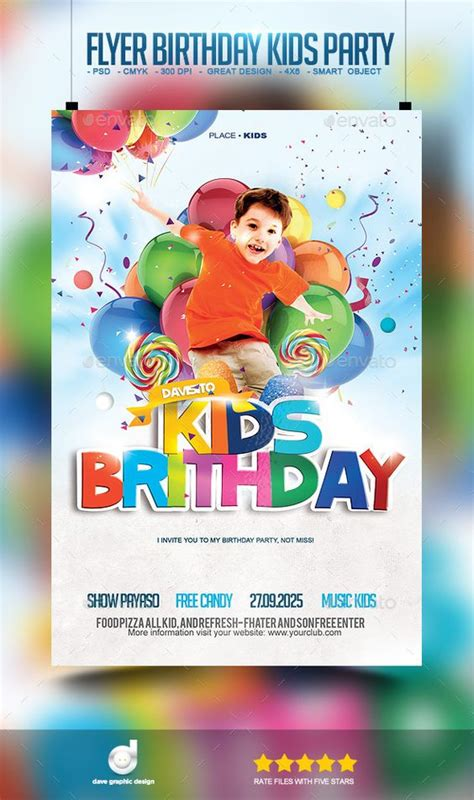 flyer birthday kids party party events flyer template