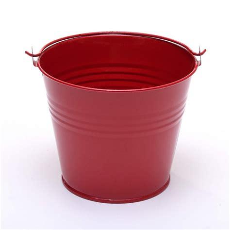 Indoor Herb Pots five 10cm 4 quot metal buckets pots pails tins herb planter