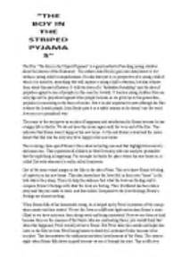 Boy Essay by The Boy In The Striped Pyjamas Book Essay Writefiction581 Web Fc2