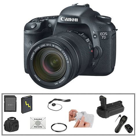 Canon Eos 7d Lensa Kit 18 135mm 18 Mp canon eos 7d digital slr with 18 135mm lens deluxe