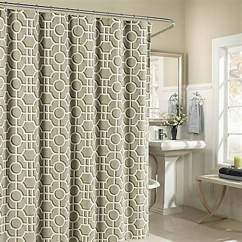 lenox shower curtain lenox cotton shower curtain bed bath beyond