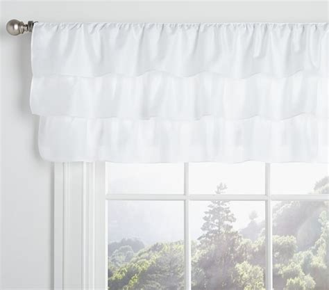 pottery barn baby curtains ruffle valance pottery barn kids