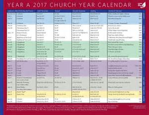 Church year calendar year a 2017