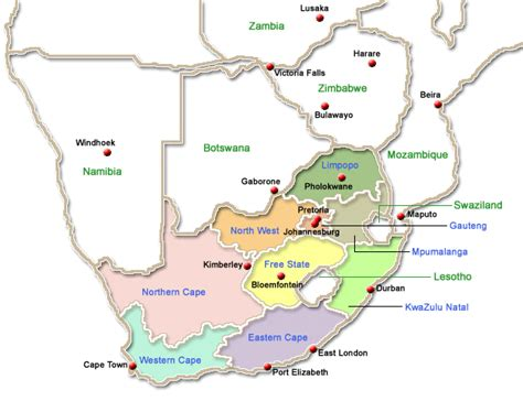 Search In South Africa South Africa Map Search South Accommodation