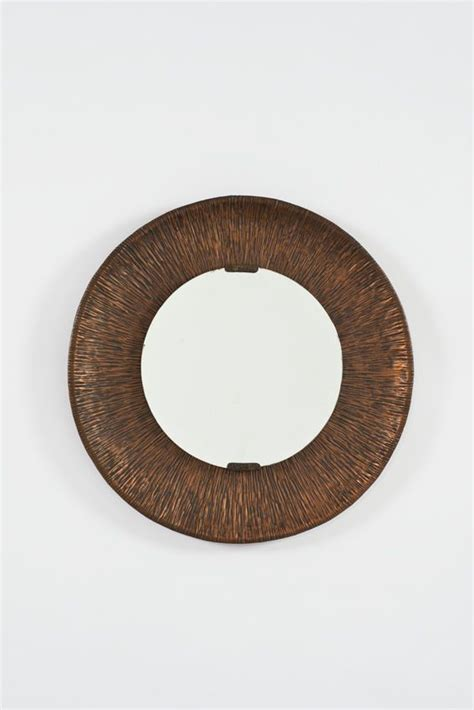 decorative objects for home mirrors home decor lorenzo burchiellaro hammered and oxidized copper and glass wall mirror