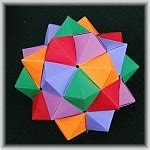 Exquisite Modular Origami - compound of 5 octahedra
