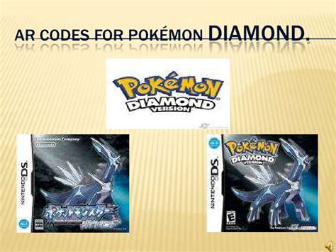 designmantic code ar codes for pok 233 mon diamond