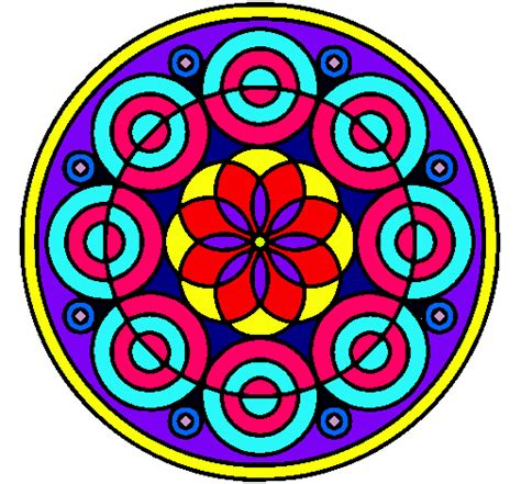 imagenes de mandalas faciles pintados dibujo de mandala 35 pintado por mandada en dibujos net el