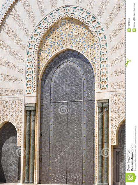 masjid door design door design at hassan ii mosque casablanca stock photo