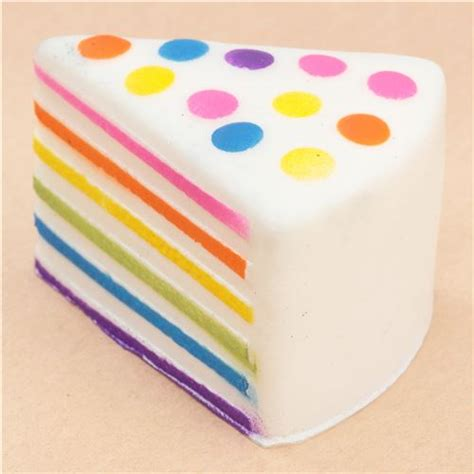 Squishy Jumbo Slice Cake Rainbow Cake Slice Squishy Food Squishy Squishies