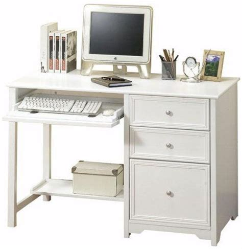 white computer desk with file drawer white computer desk with file drawer