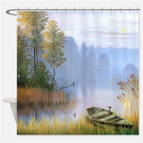 Fishing Shower Curtains Fishing Boat Shower Curtains Fishing Boat Fabric Shower Curtain Liner