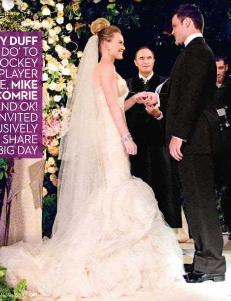 hilary duff and mike comrie wedding photos wedding hilary duff wedding bells