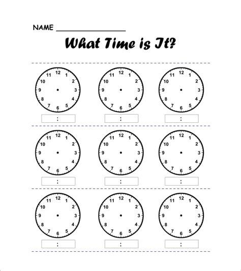 layout word clock 9 printable clock templates free word pdf format