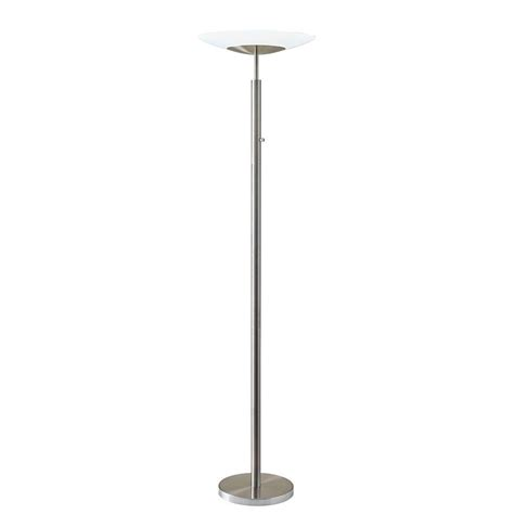 Led Torchiere Floor L Adesso Stellar 72 In Silver Led Torchiere 5127 22 The Home Depot