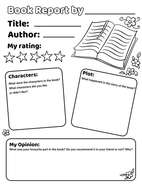 Parts Of A Book Report Middle School by Book Report Worksheet Sandwich Book Report Projects