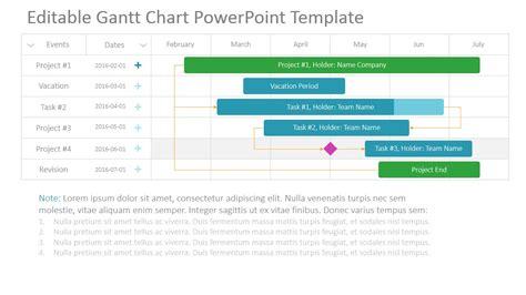 Project Gantt Chart Powerpoint Template Slidemodel Powerpoint Gantt Chart Template