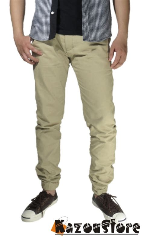 Dasi Siap Pakai Diskon detil produk celana jogger khaki jp 2 kazoustore