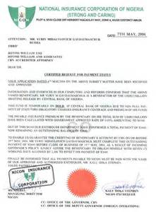 Request Letter For Certification Of Full Payment 30 Phony Documents Used In Nigerian 4 1 9 Frauds And Car Buying Scams