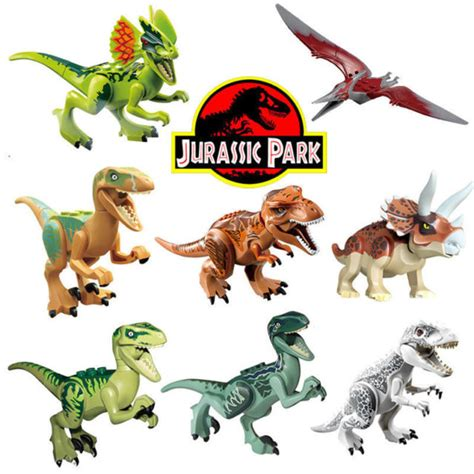 8 sets jurassic world dinosaurs mini figures building toys