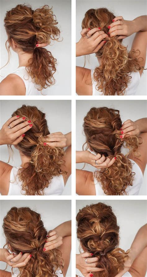 curly hair updos step by step pretty curly twist hairstyle tutorial for curly hair