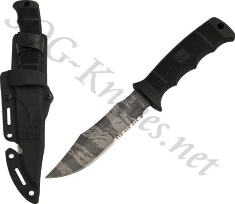 sog seal pup tiger stripe sog seal pup tigerstripe knife w kydex sheath m37t