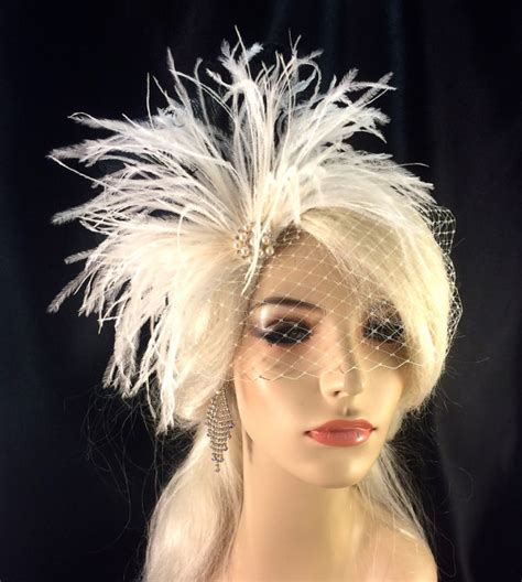 Wedding Hair Accessories With Feathers bridal feather fascinator bridal fascinator bridal