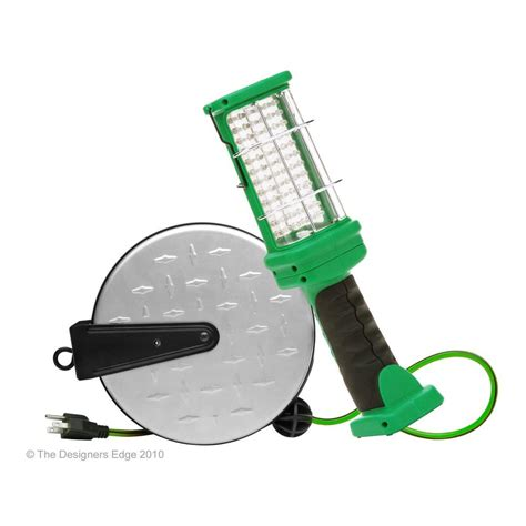 Led Trouble Light by Designers Edge 30 Ft Metal Cord Reel With 72 Led Trouble Light Shop Your Way Shopping