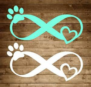 Paw Print Infinity Infinity Pet Decal Infinity Decal Pet Decal Paw Print