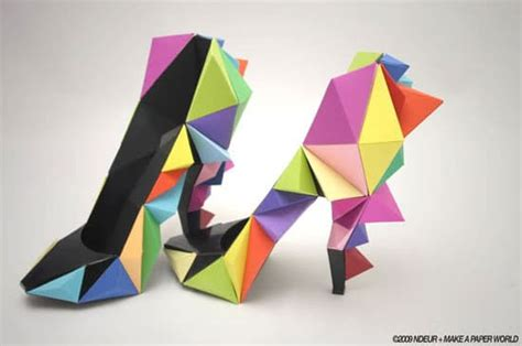 Shoe Origami - colorful origami shoes for the who has everything