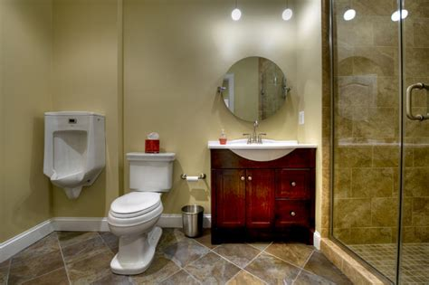 Open Shower Bathroom Design by Ashburn Transitional Basement Bathroom Contemporary