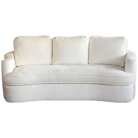 20th century bernhardt curved back sofa for sale at 1stdibs
