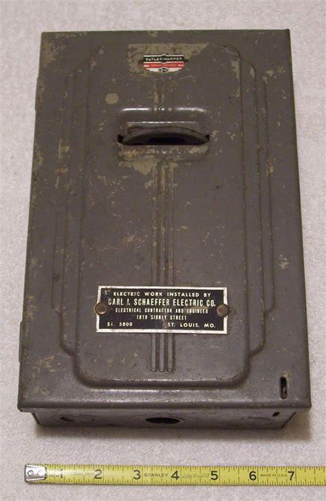 vintage home fuse box free wiring diagrams