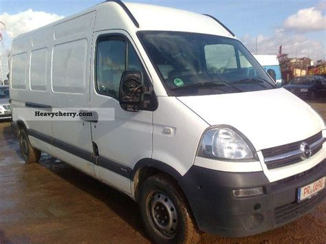 opel movano 2008 opel movano maxi 2008 box type delivery van high and