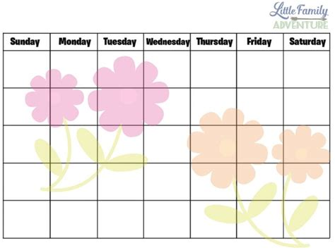 make your own family calendar activities your family will for a printable