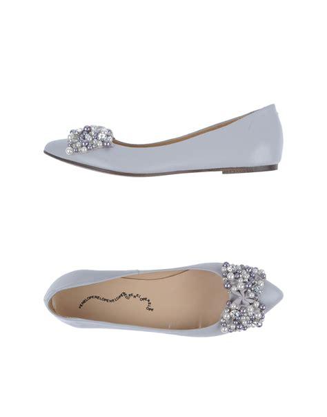 gray ballet flats womens shoes penelope ballet flats in gray light grey lyst