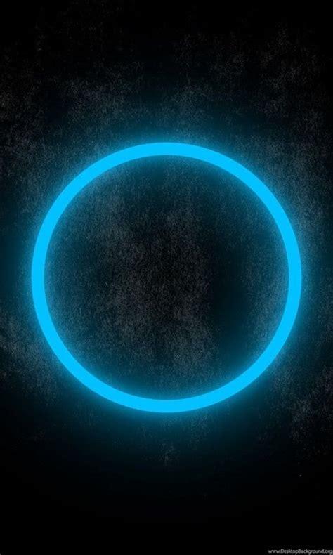 blue neon circle glowing   dark wallpapers
