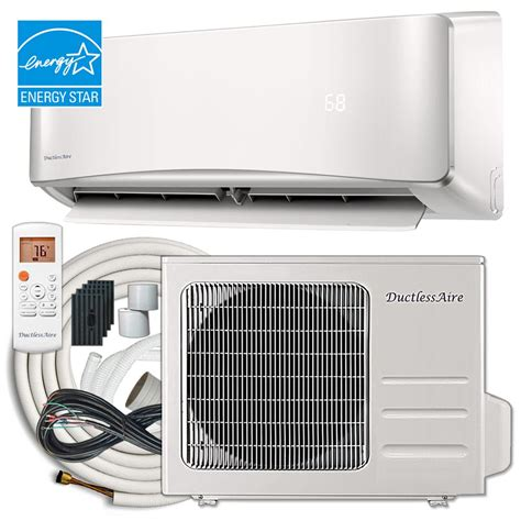 mini window air conditioner dimensions ductlessaire energy 18 000 btu 1 5 ton ductless mini
