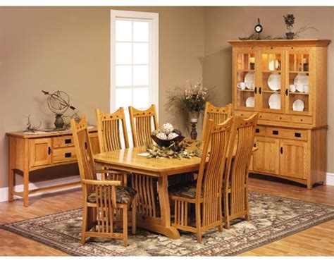 classic mission dining room furniture amish dining room