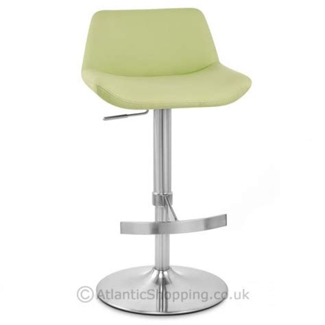 Lime Green Leather Bar Stools by Christiana Brushed Steel Faux Leather Kitchen Bar Stool Ebay