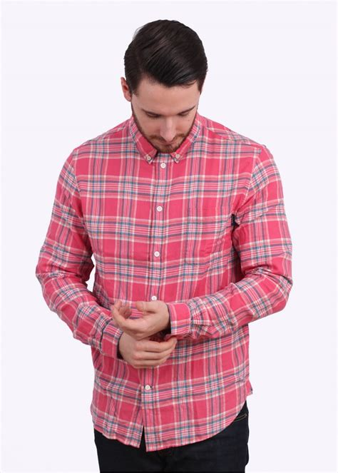 Sleeve Fit Check Shirt paul smith sleeve tailored fit check shirt pink