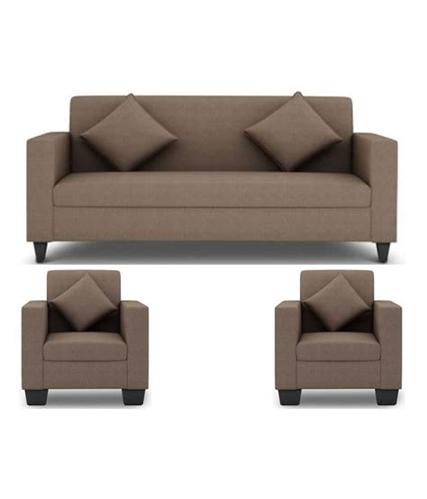 sofa set elite shop westido 5 seater sofa set in light brown upholstery with cushions