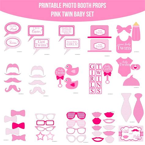 printable cute baby photo booth props multicolor 90 best images about baby girl shower on pinterest diy